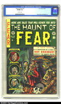Golden Age (1938-1955):Horror, The Haunt of Fear #18 (EC, 1953) CGC VF/NM 9.0 Off-white pages.Evans, Davis, and Feldstein art with a Ray Bradbury story an...
