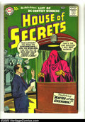 Silver Age (1956-1969):Horror, House of Secrets #4 (DC, 1957) Condition: VG. Ruben Moreira cover,Jack Kirby art. Overstreet 2003 VG 4.0 value = $38. Fro...