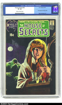 House of Secrets #92 (DC, 1971) CGC VF 8.0 Cream to off-white pages. First appearance of the Swamp Thing. Classic cover...