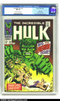 Silver Age (1956-1969):Superhero, The Incredible Hulk #102 (Marvel, 1968) CGC NM 9.4 Off-white to white pages. Origin retold. Marie Severin/George Tuska art. ...