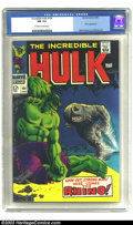 Silver Age (1956-1969):Superhero, The Incredible Hulk #104 (Marvel, 1968) CGC NM 9.4 Off-white to white pages. Marie Severin and Frank Giacoia artwork. This i...