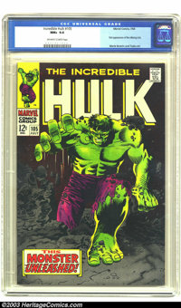 The Incredible Hulk #105 (Marvel, 1968) CGC NM+ 9.6 Off-white to white pages. Marie Severin and George Tuska art. Overst...