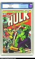 Bronze Age (1970-1979):Superhero, The Incredible Hulk #181 (Marvel, 1974) CGC VF 8.0 Off-white pages.Here comes the Wolverine, making his first full appearan...