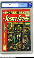 Golden Age (1938-1955):Science Fiction, Incredible Science Fiction #32 Gaines File pedigree 9/12 (EC, 1955)CGC NM- 9.2 Off-white pages. Outrageous Jack Davis cover...