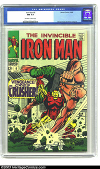 Iron Man #6 (Marvel, 1968) CGC NM 9.4 Off-white to white pages. George Tuska and Johnny Craig art. Overstreet 2003 NM 9...