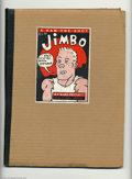 Modern Age (1980-Present):Alternative/Underground, Jimbo #1 (RAW, 1982) Condition of Outer Cover = VG+; Interior = NM. This neat RAW one-shot was written by Gary Panter with a...