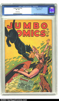 Golden Age (1938-1955):Adventure, Jumbo Comics #104 Diamond Run pedigree (Fiction House, 1947) CGC VF- 7.5 Off-white pages. Matt Baker and Jack Kamen art. She...