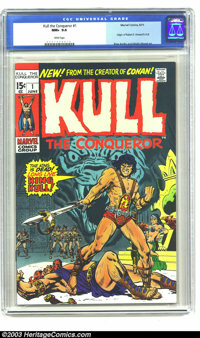 Kull the Conqueror #1 (Marvel, 1971) CGC NM+ 9.6 White pages. Origin of Robert E. Howard's Kull. Ross Andru and Wally Wo...