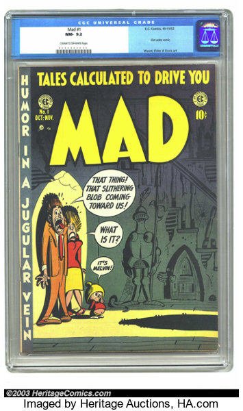 Mad 1 Ec 1952 Cgc Nm 9 2 Cream To Off White Pages First