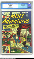 Golden Age (1938-1955):Crime, Men's Adventures #7 Palo Alto pedigree (Atlas, 1951) VF/NM 9.0 Off-white pages. Sol Brodsky cover. Buried alive story. This ...