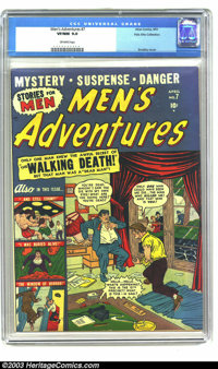 Men's Adventures #7 Palo Alto pedigree (Atlas, 1951) VF/NM 9.0 Off-white pages. Sol Brodsky cover. Buried alive story. T...