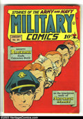 Golden Age (1938-1955):War, Military Comics #35 (Quality, 1945) Condition: FN-. Alex Kotskycover. Bryant and Fox art. Overstreet 2003 FN 6.0 value = $1...
