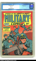 Golden Age (1938-1955):War, Military Comics #37 Crowley pedigree (Quality, 1945) CGC VF+ 8.5Off-white pages. Highest grade yet certified by CGC for thi...