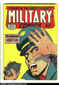 Golden Age (1938-1955):War, Military Comics #39 (Quality, 1945) Condition: FN-. Alex Kotskycover. Al Bryant and Gill Fox art. Overstreet 2003 FN 6.0 va...