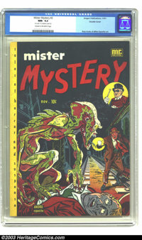 Mister Mystery #2 Double Cover (Aragon Magazines, Inc., 1951) CGC NM- 9.2 Cream to Off-white pages. Ross Andru and Mike...