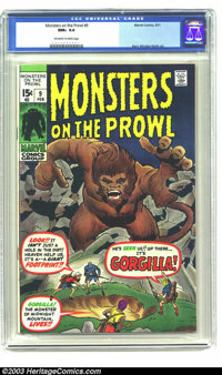 Monsters on the Prowl #9 (Marvel, 1971) CGC NM+ 9.6 Off-white to white pages. Kirby cover. Windsor-Smith art. Finest cop...