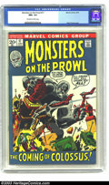 Bronze Age (1970-1979):Horror, Monsters on the Prowl #17 (Marvel, 1972) CGC NM+ 9.6 Off-white towhite pages. Kirby and Ditko art. Highest grade yet assign...