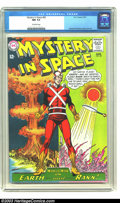 Silver Age (1956-1969):Science Fiction, Mystery in Space #82 (DC, 1963) CGC NM 9.4 Off-white pages. CarmineInfantino cover and art. Highest grade yet certified by ...