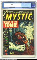 Golden Age (1938-1955):Horror, Mystic #22 (Atlas, 1953) CGC VF 8.0 Cream to off-white pages. RussHeath and Joe Maneely art. Highest grade yet certified by...
