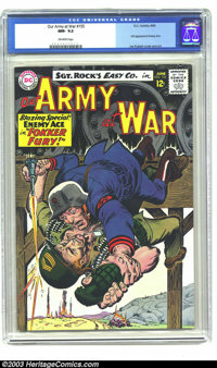 Our Army At War #155 (DC, 1965) NM- 9.2 Off-white pages. The Enemy Ace makes his third appearance this issue; Joe Kubert...