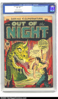 Golden Age (1938-1955):Horror, Out of the Night #17 (ACG, 1954) CGC VF- 7.5 Cream to off-whitepages. EC Wally Wood swipe. Martin Landau art. To date, this...