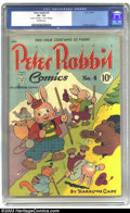 """Golden Age (1938-1955):Funny Animal, Peter Rabbit Comics #4 (Avon, 1949) CGC VF- 7.5 Off-white pages.Harrison Cady art. CGC notes, """"Two-inch tear on 15th page. ..."""