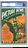 Golden Age (1938-1955):Non-Fiction, Picture News #3 Mile High pedigree (Lafayette Street Corp., 1946)CGC NM- 9.2 Off-white to white pages. Atomic explosion pan...