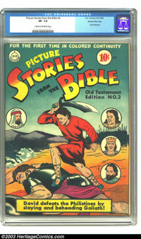 Picture Stories from the Bible #2 Old Testament Edition - Gaines File pedigree (DC, 1942) CGC VF- 7.5 Cream to off-white...