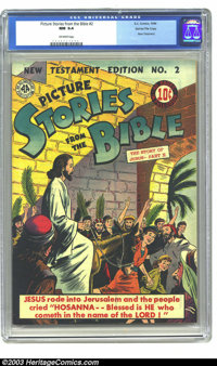Picture Stories from the Bible New Testament #2 Gaines File pedigree (EC, 1946) CGC NM 9.4 Off-white pages. New Testamen...