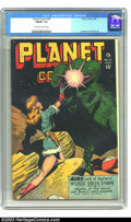 Golden Age (1938-1955):Science Fiction, Planet Comics #47 (Fiction House, 1947) CGC FN/VF 7.0 Off-white towhite pages. Another great girl and monster cover tops th...