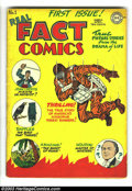 Golden Age (1938-1955):Non-Fiction, Real Fact Comics Group (DC 1947-48). Three issues make up this lot.Issue #1 is an Apparent VG with a moderate amount of glu... (Total:3 Comic Books Item)