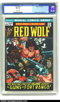 Bronze Age (1970-1979):Western, Red Wolf #1 (Marvel, 1972) CGC NM 9.4 Off-white pages. Gil Kane cover. Syd Shores art. Overstreet 2003 NM 9.4 value = $25. ...