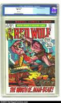 Bronze Age (1970-1979):Western, Red Wolf #4 (Marvel, 1972) CGC NM 9.4 White pages. Syd Shores cover and art. Overstreet 2003 NM 9.4 value = $15. ...