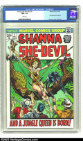 Bronze Age (1970-1979):Miscellaneous, Shanna the She-Devil #1 (Marvel, 1973) CGC NM+ 9.6 White pages.Steranko cover. Tuska art. First appearance of Shanna. Overs...