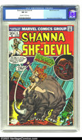 Bronze Age (1970-1979):Western, Shanna the She-Devil #4 (Marvel, 1973) CGC NM 9.4 Off-white to white pages. Andru and Colletta art. Overstreet 2003 NM 9.4 v...