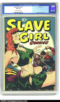 Slave Girl Comics #1 (Avon, 1949) CGC FN+ 6.5 Off-white to white pages. If comic books with sexy women on the cover appe...