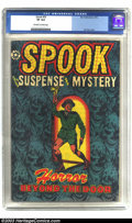Golden Age (1938-1955):Horror, Spook #25 (Star Publications, 1953) CGC VF 8.0 Off-white to whitepages. Suspense and mystery! This classic Fifties horror c...