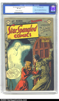 Star Spangled Comics #122 (DC, 1951) CGC VG 4.0 Off-white to white pages. Bill Ely cover, Jim Mooney art. Origin and fir...