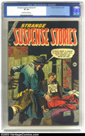 Golden Age (1938-1955):Horror, Strange Suspense Stories #17 (Charlton, 1954) CGC VF 8.0 Off-whiteto white pages. Dick Giordano cover. Dick Ayers art. Only...