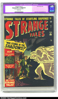 Strange Tales #7 (Marvel, 1952) CGC Apparent FN- 5.5 Slight (A) Off-white pages. Gene Colan and Joe Maneely art. CGC not...