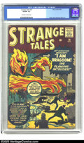 Silver Age (1956-1969):Horror, Strange Tales #76 (Marvel, 1960) CGC VG/FN 5.0 Off-white to whitepages. Kirby, Heck, Reinman, Ditko art. Human Torch protot...