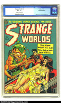 Golden Age (1938-1955):Horror, Strange Worlds #5 Cosmic Aeroplane pedigree (Avon, 1951) CGC VF+ 8.5 Off-white to white pages. Wally Wood cover and art. Joe...
