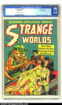 Strange Worlds #5 Cosmic Aeroplane pedigree (Avon, 1951) CGC VF+ 8.5 Off-white to white pages. Wally Wood cover and art...