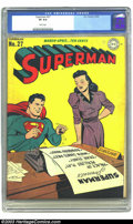Golden Age (1938-1955):Superhero, Superman #27 (DC, 1944) CGC VF 8.0 White pages. Lois Lane cover. Just a half-grade shy of the highest-grade that CGC has ass...