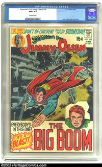Superman's Pal Jimmy Olsen #138 (DC, 1971) CGC NM+ 9.6 Off-white pages. Partial photo cover. Jack Kirby cover and story...