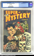 Golden Age (1938-1955):Crime, Super-Mystery Comics V8#4 (Ace, 1949) CGC VF 8.0 Cream to off-whitepages. Palais art. Colorful punch 'em up cover, not ofte...