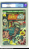 Bronze Age (1970-1979):Horror, Supernatural Thrillers #4 (Marvel, 1973) CGC NM 9.4 Off-white towhite pages. Adapts Robert Lewis Stevenson's Dr. Jekyll a...