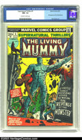 Bronze Age (1970-1979):Horror, Supernatural Thrillers #5 (Marvel, 1973) CGC NM+ 9.6 Off-white towhite pages. First appearance of The Living Mummy. Overstr...