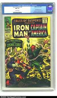 Tales of Suspense #80 (Marvel, 1966) CGC NM 9.4 Off-white pages. Jack Kirby and Gene Colan art. Classic Red Skull cover...
