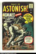 Silver Age (1956-1969):Mystery, Tales to Astonish #8 (Marvel, 1960) Condition: VG+. Jack Kirby art.Mummex the mummy story. Overstreet 2003 VG 4.0 value = $...